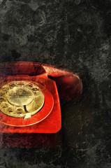 red phone print
