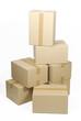 Cajas de cartón apiladas, recortada 2