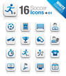 White Squares - Soccer Icons