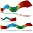 Wavy Ribbon Arrow Chart