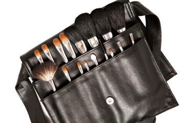 set of brushes for makeup