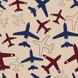 Flying airplane, vector illustration. - 38392544