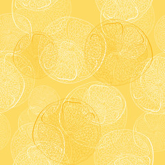 seamless pattern with lemons and oranges - vector