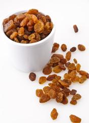 Raisins - uva passa con fondo bianco