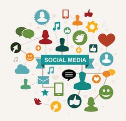 social media concept - vector illustation