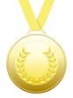 Médaille d'or avec ruban