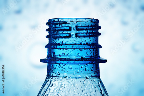 macro of bottle neck with water drops