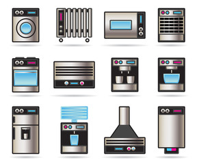 Household Appliances icons set - vector illustration