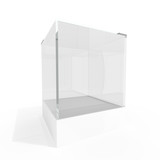 Empty glass showcase poster