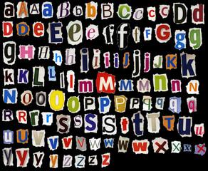 Torn alphabet