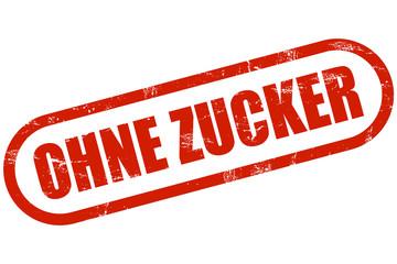 Grunge Stempel rot OHNE ZUCKER