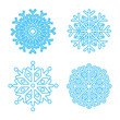 Snowflakes collection   Vector  eps8