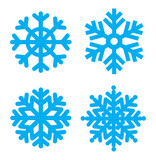 Fototapety Snowflakes collection Vector  eps8