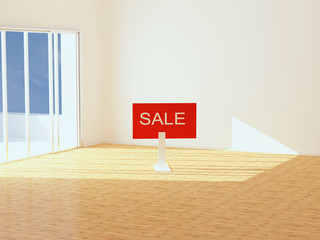New empty apartment for sale