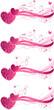 Valentine's floral wave backgrounds