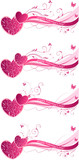 Valentine's floral wave backgrounds