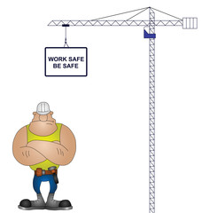 Crane health and safety message