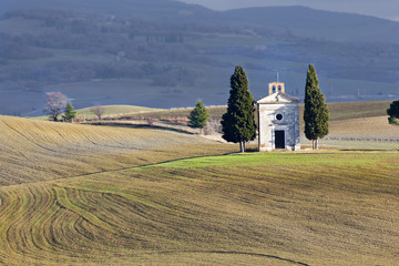 Lonely church, Val d'Orcia (Italy).