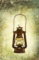 oil lamp print
