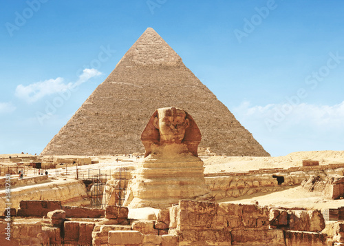 Leinwanddruck Bild Great Sphinx of Giza - Egypt