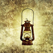 rusty oil lamp print