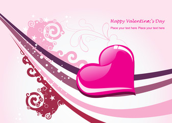 valentine card illustration on abstract background