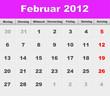 Monatskalender - Februar 2012