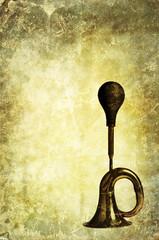 vintage horn backdrop