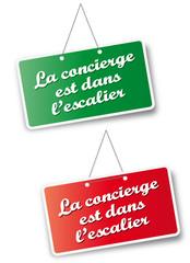 """Pancarte """"Concierge"""""""