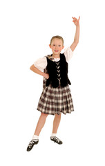 Young Irish Dancer in Kilt