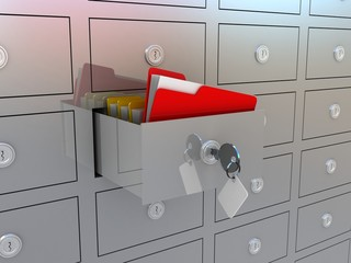Filing cabinet for documents