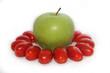 Apfel mit Tomaten