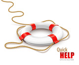 rescue ring for quick help vector illustration isolated on