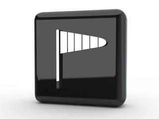 Button Windmesser schwarz