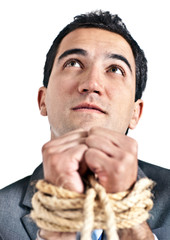 Tortured business man