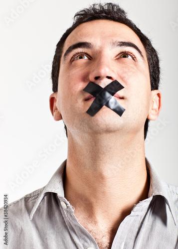Silenced man