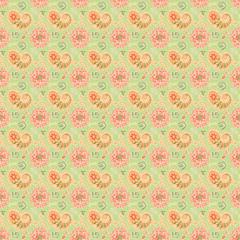 Seamless Pastel Paisley Background
