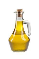 Olivenöl in Flasche, isoliert