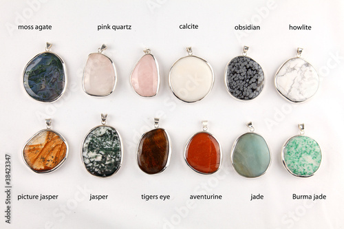 Various gemstone pendants