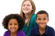 Multi-racial Family Portrait Children Only
