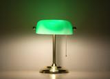 Green bankers lamp poster