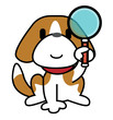 Dog-Magnifying glass