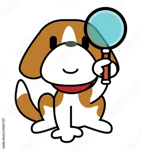 Dog-Magnifying glass