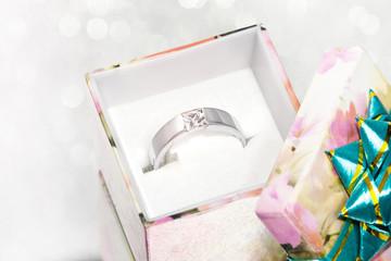 silberner Ring als Geschenk