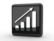Button Statistik steigend schwarz