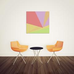 minimal  interior modern art