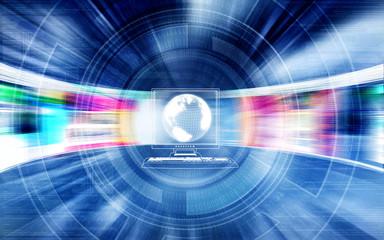 Fast internet concept