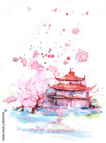 Fototapeten,abbildung,sonnenuntergänge,japanese,japan