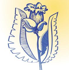 фантастический графический цветок