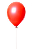 Red balloon isolated on white